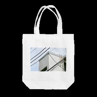 石山蓮華の電線とかど1 Tote bags