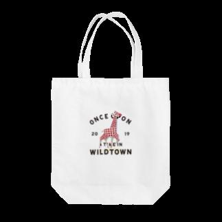 BUSCEMISのWILD TOWN  giraffe Tote bags