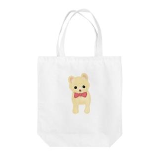 ポメたん Tote bags