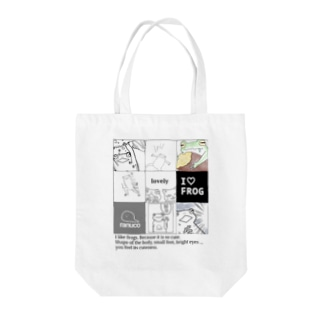 9 frames of frog Tote bags