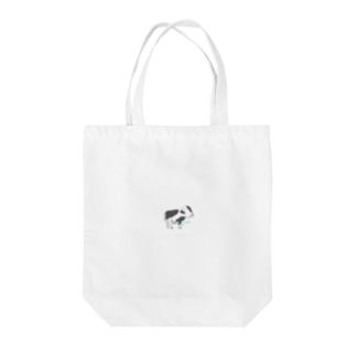 ひょっこり子牛さん Tote bags