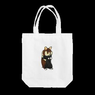 ぺちぺち工房 Pechi Pechi Atelierのクロハラハムスター Tote bags