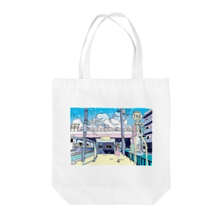 Summer with you Tote bags