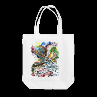 色鉛筆 Life Timeのエネルギー Tote bags