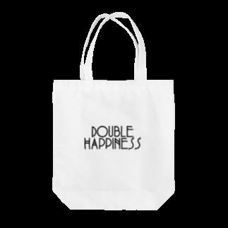ダブルハピネスのカジュアルハピネス Tote bags