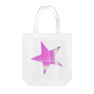 パープルスターのバッグ Tote bags