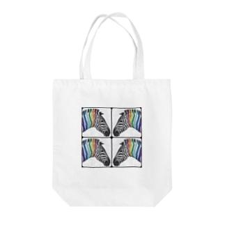 zebra×4 Tote bags