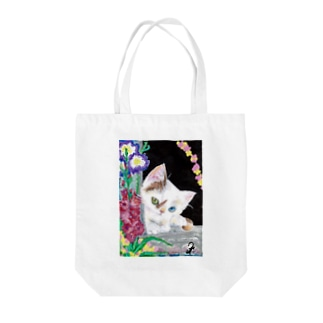BIRTHDAY WEEK CAT Tote bags