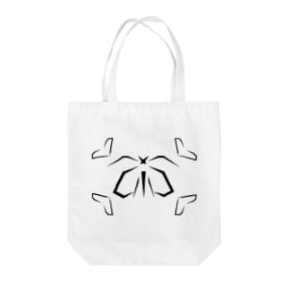 カカオ~Geometric Botany Tote bags