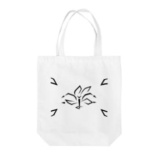 百合~Geometric Botany Tote bags