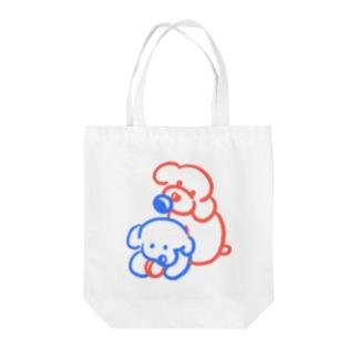 トイプードル家族 Tote bags