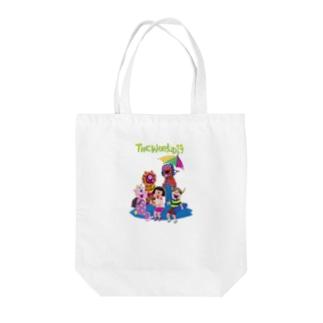 バケモノ Tote bags