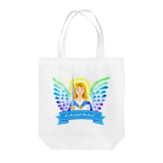 Angel channeling Art 天使のお部屋の大天使ミカエル Tote bags