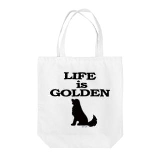 英国ゴールデンシリーズ7(モノクロ・ワンポイント) Tote bags