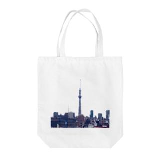 スカイツリータワー Tote bags