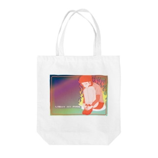 星屑のLight my fire Tote bags