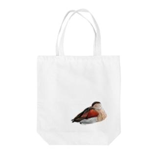クビワコガモ フルカラー② Tote bags