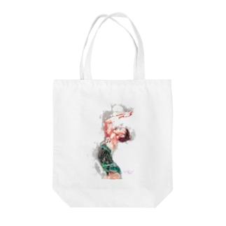 新体操ガール グリーントート Tote bags