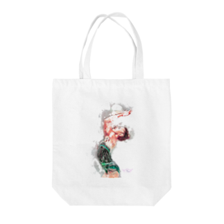lilli-starlingの新体操ガール グリーントート Tote bags