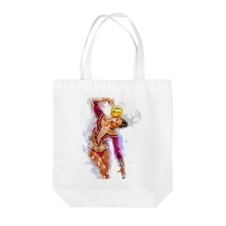 新体操ガール パープルトート Tote bags