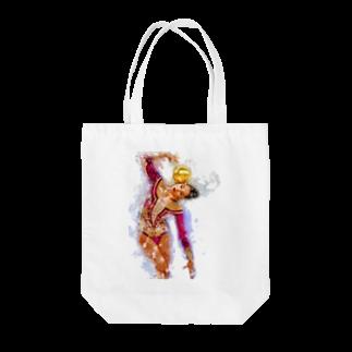 lilli-starlingの新体操ガール パープルトート Tote bags