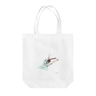 lilli-starling dépayséeの新体操ガール ジャンプ トート Tote bags