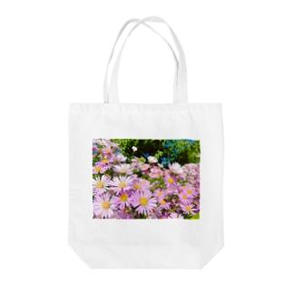 Pink flowers  Tote bags