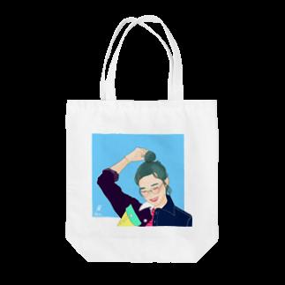 ミドリ ハナ@maro_coの少女 Tote bags