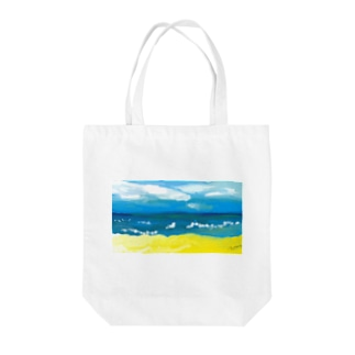 Stories by beach - Karon Tote bags