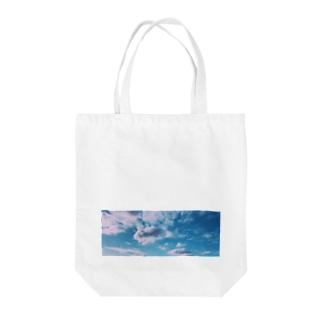 ポリゴン空 Tote bags