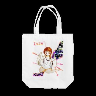キューブ・ザ・双頭のレイン Tote bags