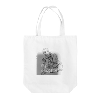my daughter Tote bags