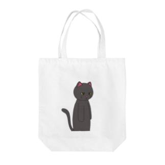 黒猫のえる Tote bags