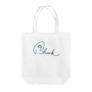 サメ文字/shark Tote bags
