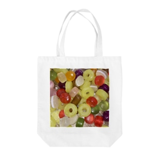 small candy . Tote bags