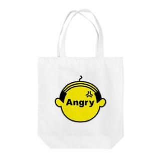 アングリーオヤジ Tote bags