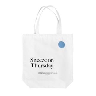 Sneeze on Thursday - Blue Tote bags