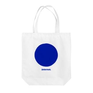 Internet___Blue Tote bags