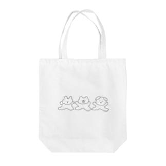 うさぎくまいぬ Tote bags