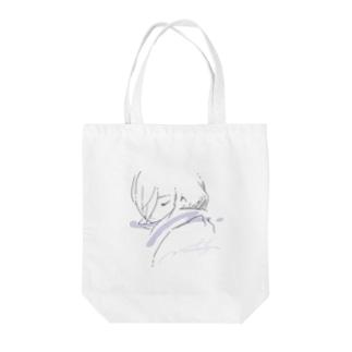 マフラーの女の子 Tote bags