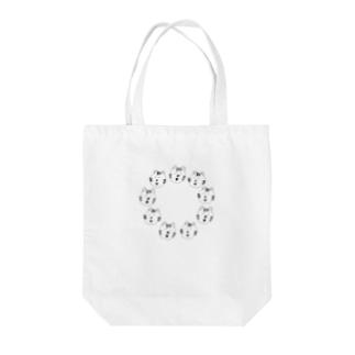 エンを描くトラ Tote bags