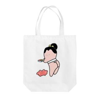 乙女な力士(お寿司とかににゃん) Tote bags