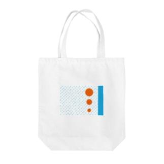 線と丸 Tote bags