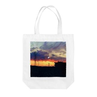 「夜に溶ける街」 Tote bags