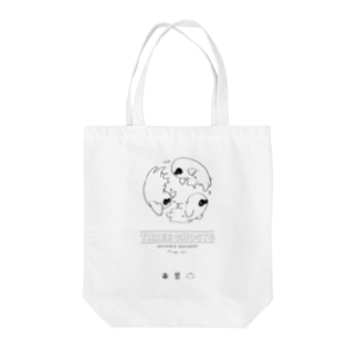 three ghosts Tote bags
