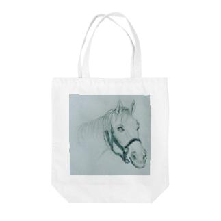馬のスケッチ Tote bags