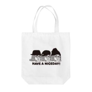 王様 Have a Nice Day! Tote bags