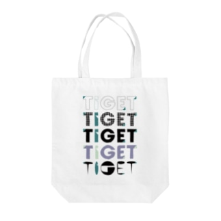 TIGET 6周年記念グッズ ロゴ ver. Tote bags
