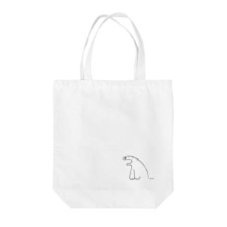 しろくまさん(シンプル) Tote bags