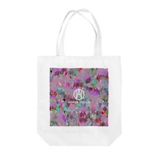 AWAKE モザイクドットカラフルピック Tote bags